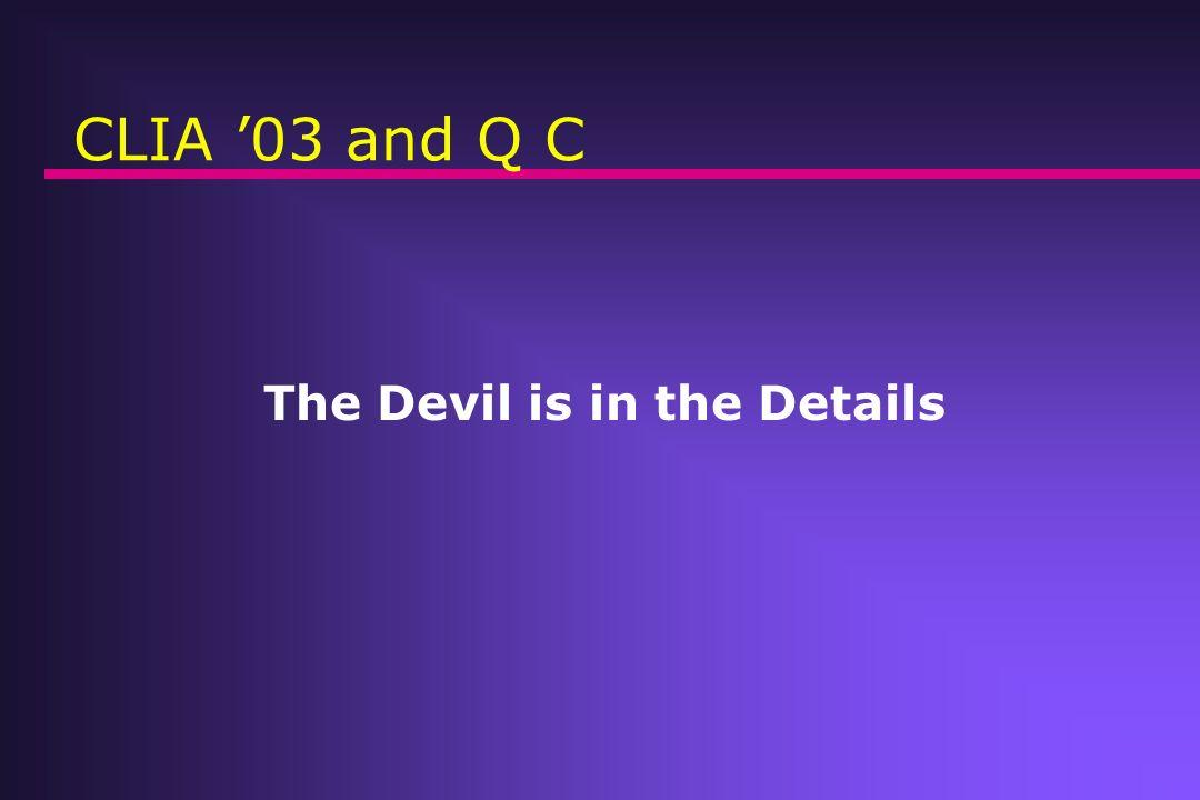 CLIA03 and QC.