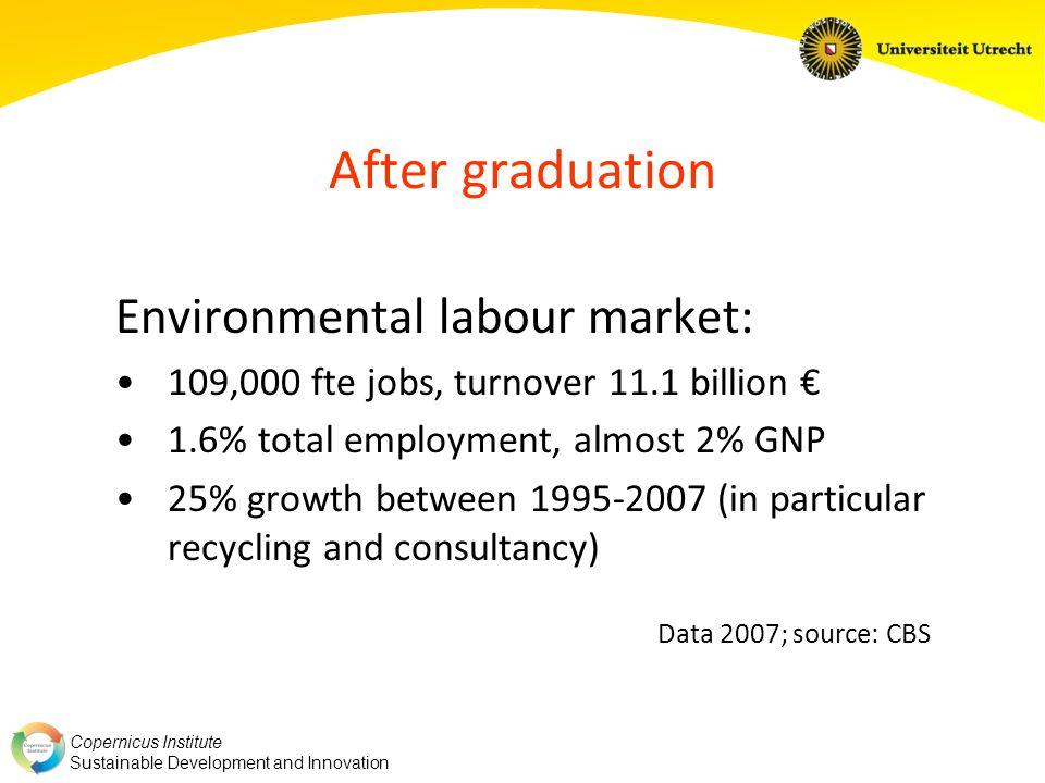 Copernicus Institute Sustainable Development and Innovation Figures 2007