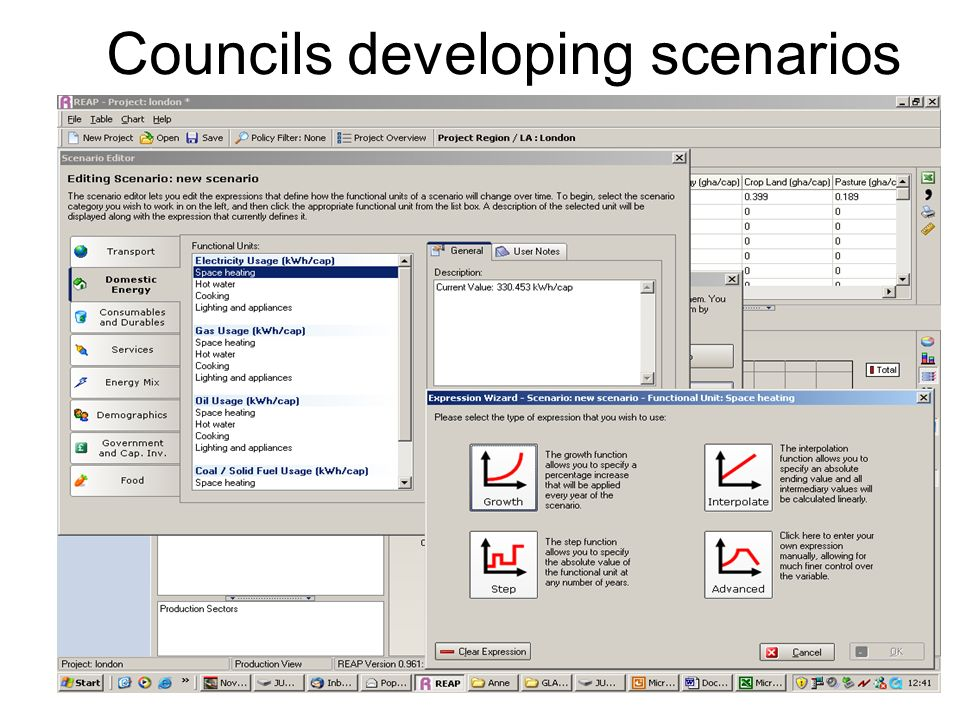 Councils developing scenarios