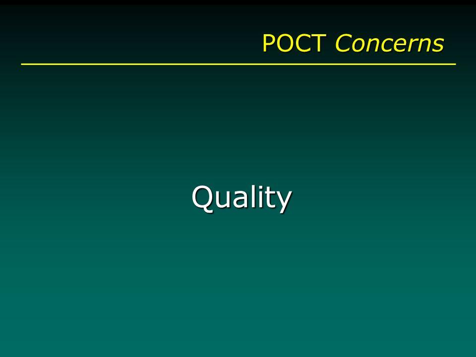 POCT Concerns Quality