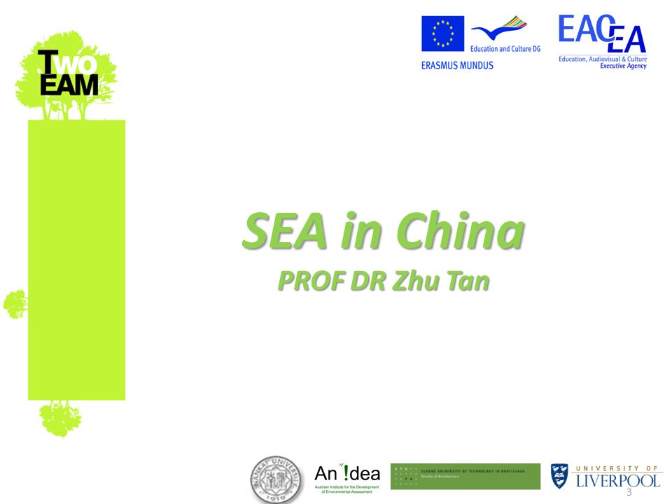 3 SEA in China PROF DR Zhu Tan