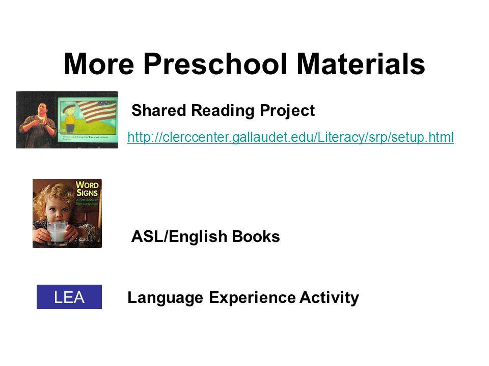Preschool Materials Pop-up Predictable Wordless