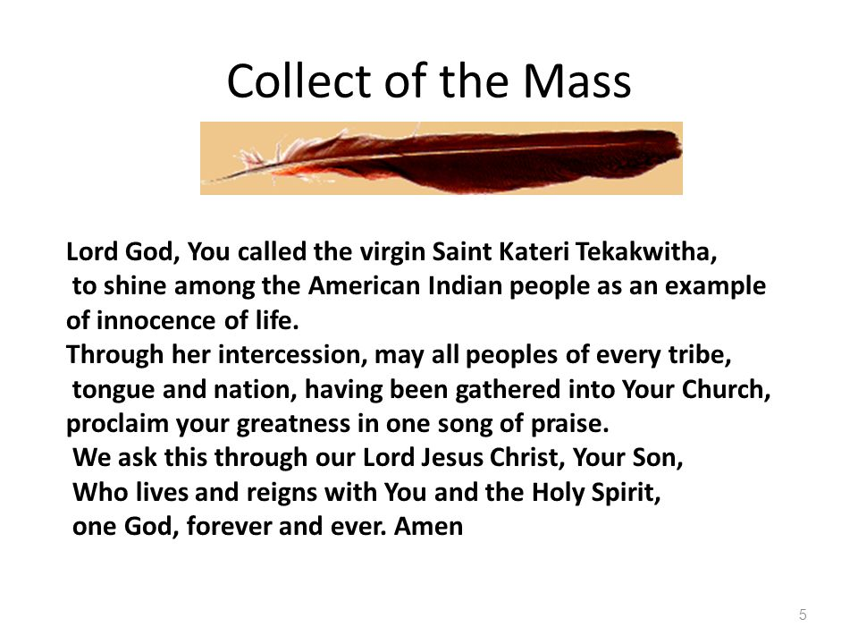 A Childs Prayer Kateri, loving child of God and Lily of the Mohawks, I thank God for the many graces He gave you.