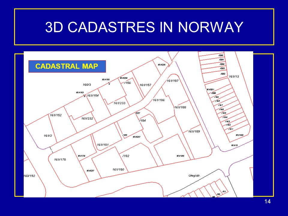 14 3D CADASTRES IN NORWAY CADASTRAL MAP