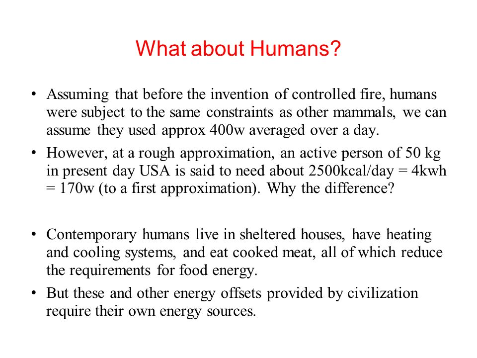 Conclusions We cannot afford to compromise the sources of food if the existing population is to be maintained.