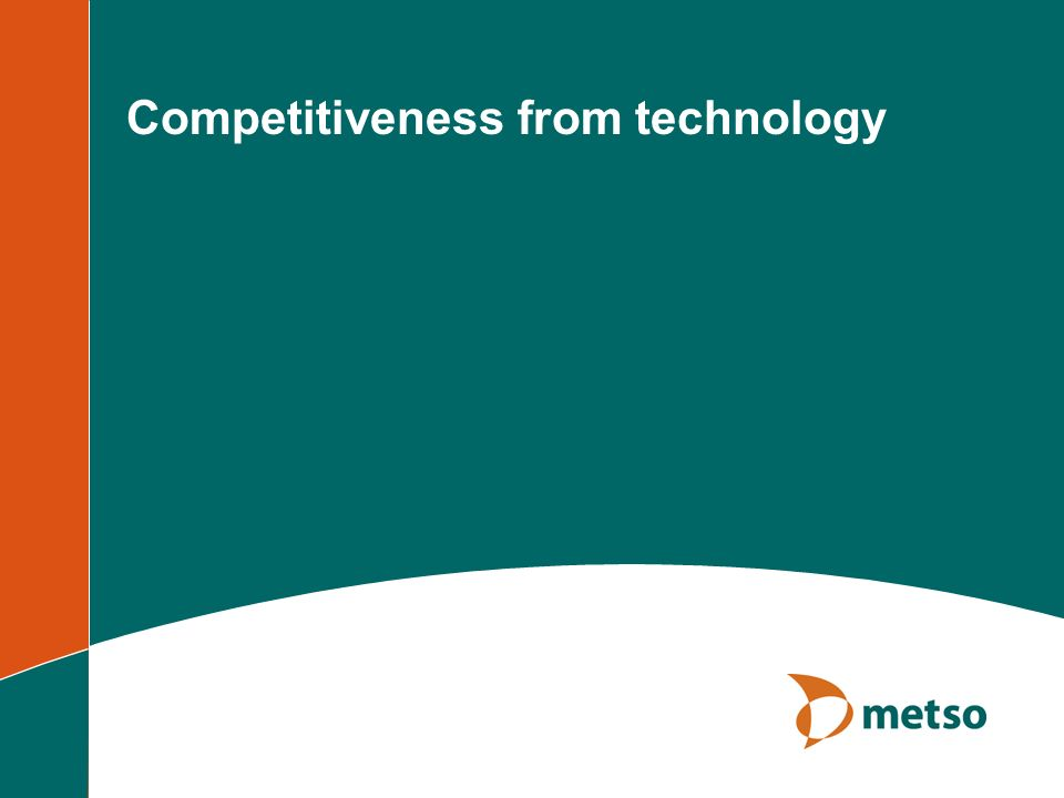 Competitiveness from technology