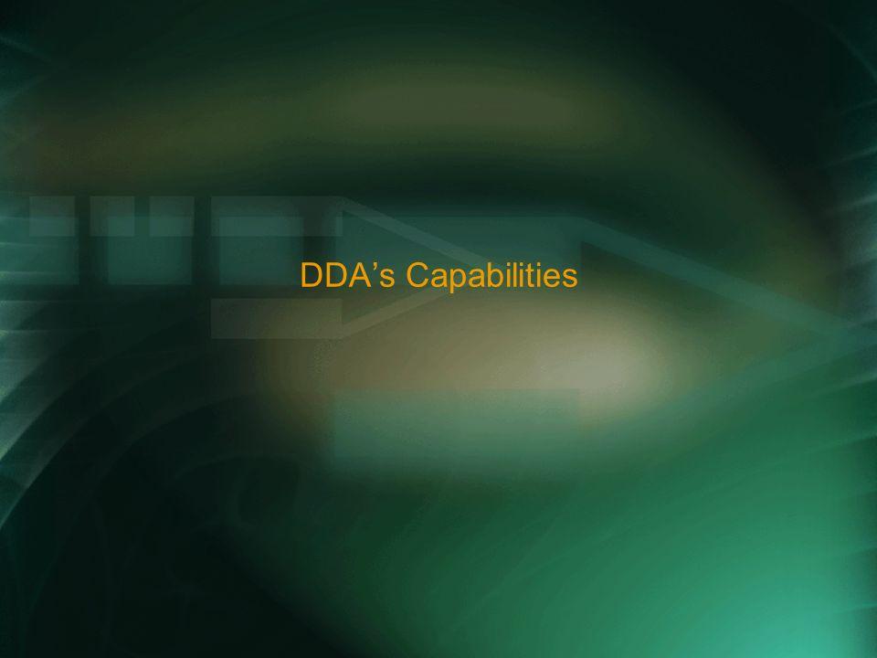 DDAs Capabilities