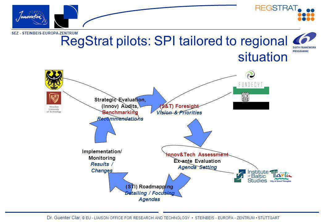 Dr. Guenter Clar, © EU - LIAISON OFFICE FOR RESEARCH AND TECHNOLOGY STEINBEIS - EUROPA - ZENTRUM STUTTGART SEZ - STEINBEIS-EUROPA-ZENTRUM RegStrat pil