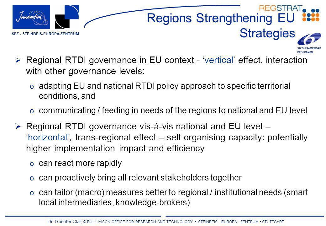 Dr. Guenter Clar, © EU - LIAISON OFFICE FOR RESEARCH AND TECHNOLOGY STEINBEIS - EUROPA - ZENTRUM STUTTGART SEZ - STEINBEIS-EUROPA-ZENTRUM Regions Stre