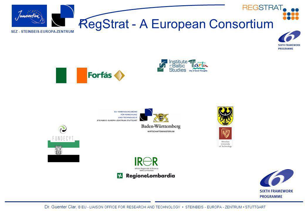 Dr. Guenter Clar, © EU - LIAISON OFFICE FOR RESEARCH AND TECHNOLOGY STEINBEIS - EUROPA - ZENTRUM STUTTGART SEZ - STEINBEIS-EUROPA-ZENTRUM RegStrat - A
