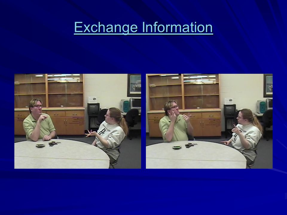 Exchange Information Exchange Information