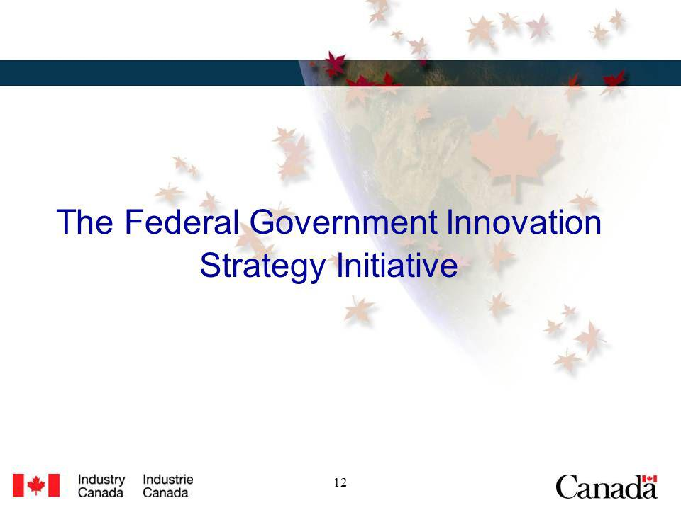 12 The Federal Government Innovation Strategy Initiative