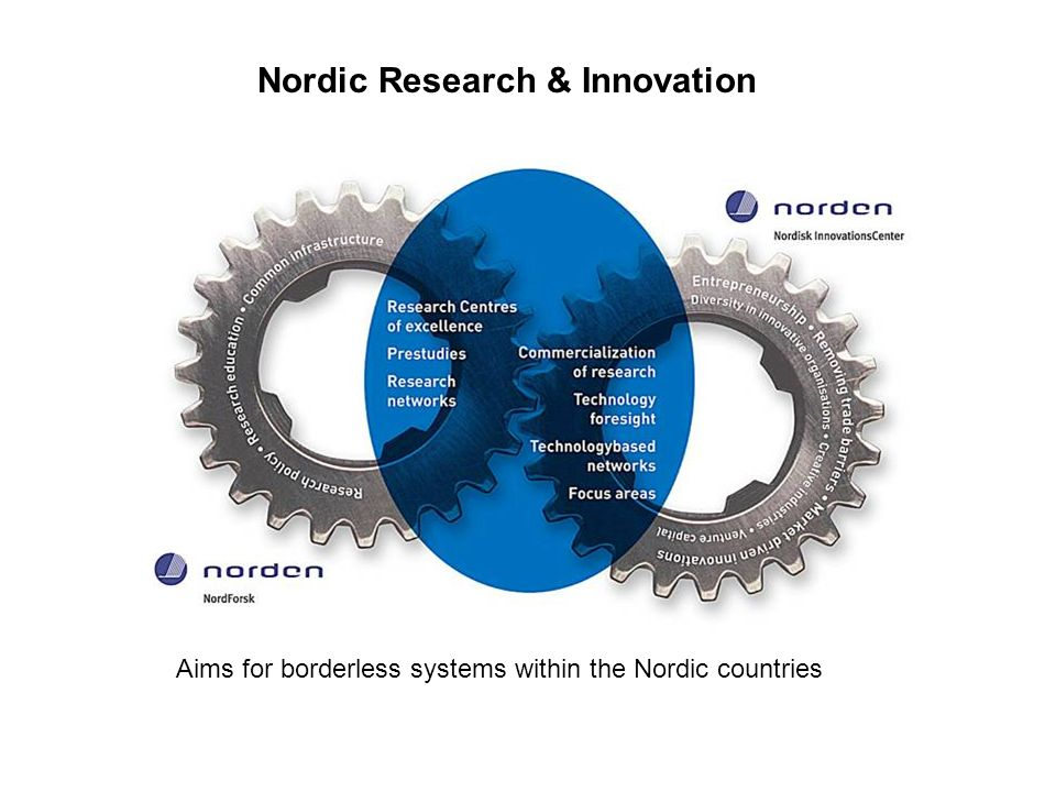 Nordic Research & Innovation Aims for borderless systems within the Nordic countries