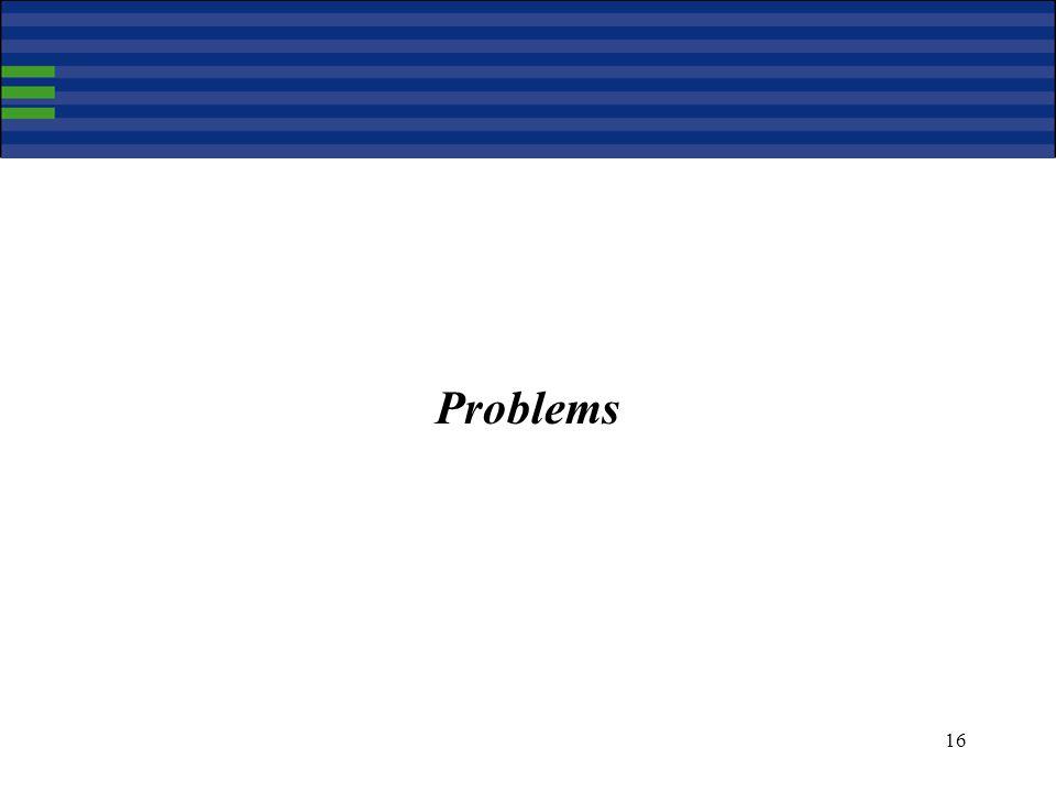 16 Problems