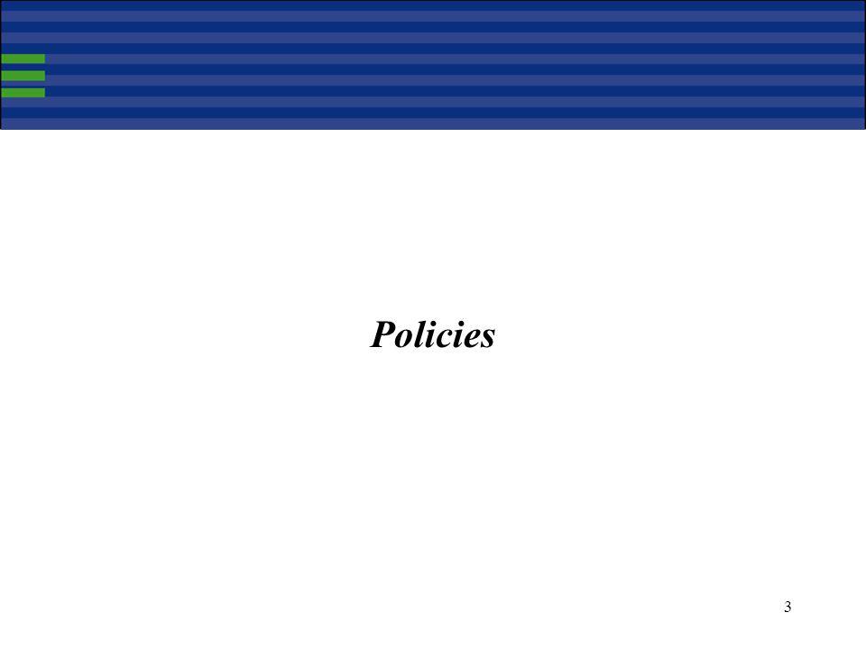 3 Policies