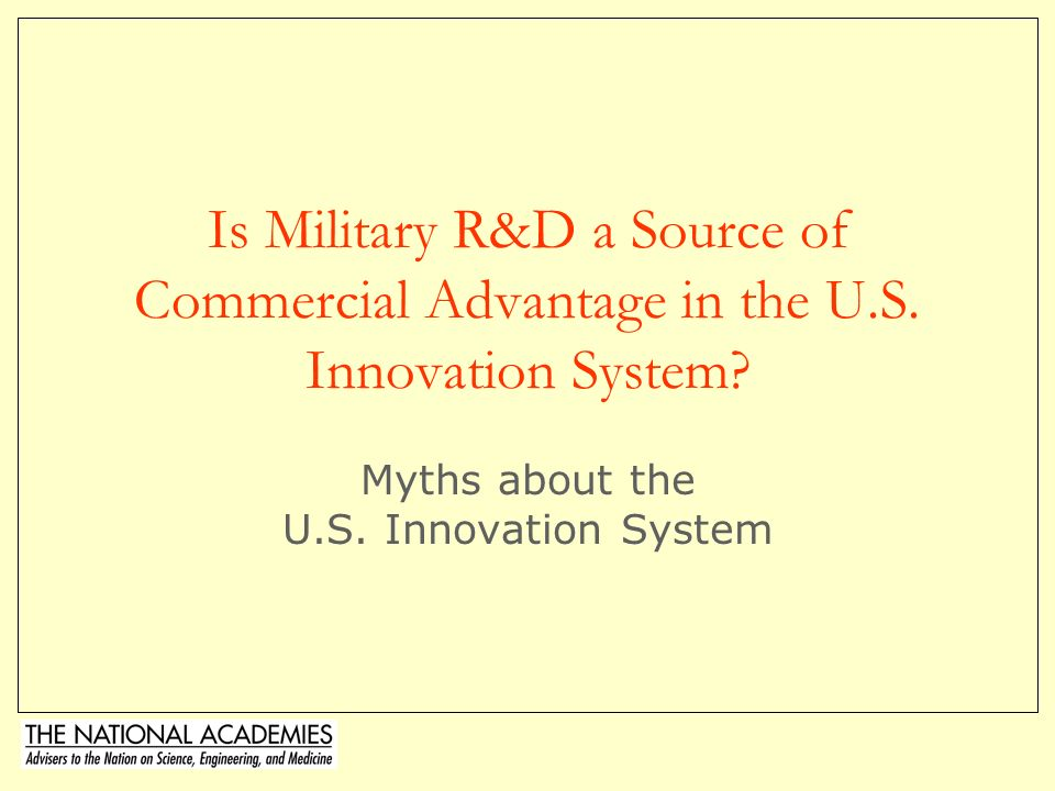 © Charles W. Wessner, PhD13 PREST Report Findings Defense & Homeland Security missions are driving increases in US Defense R&D budgets Impact of New E