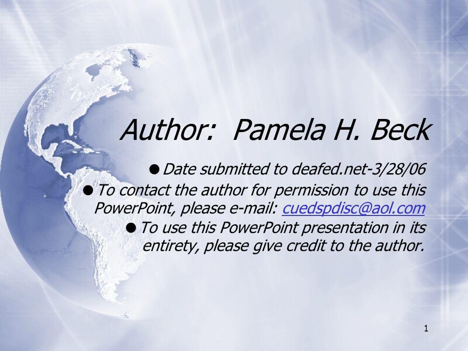 1 Author: Pamela H.