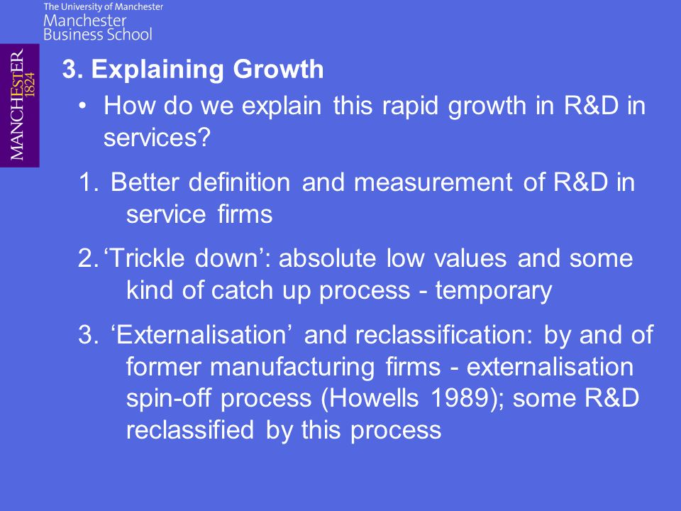 How do we explain this rapid growth in R&D in services.