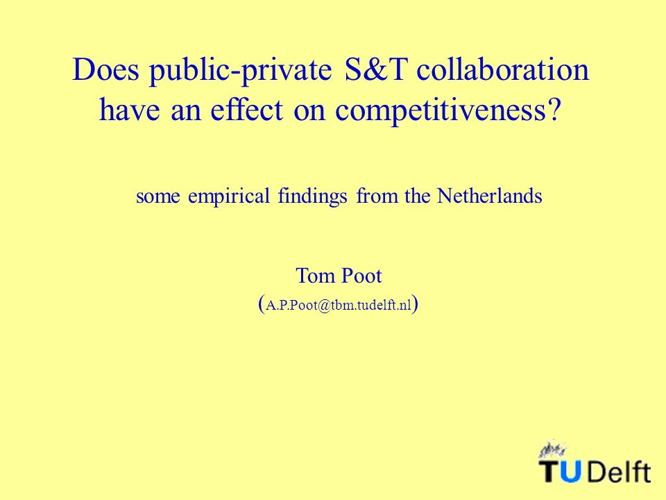 Does public-private S&T collaboration have an effect on competitiveness.