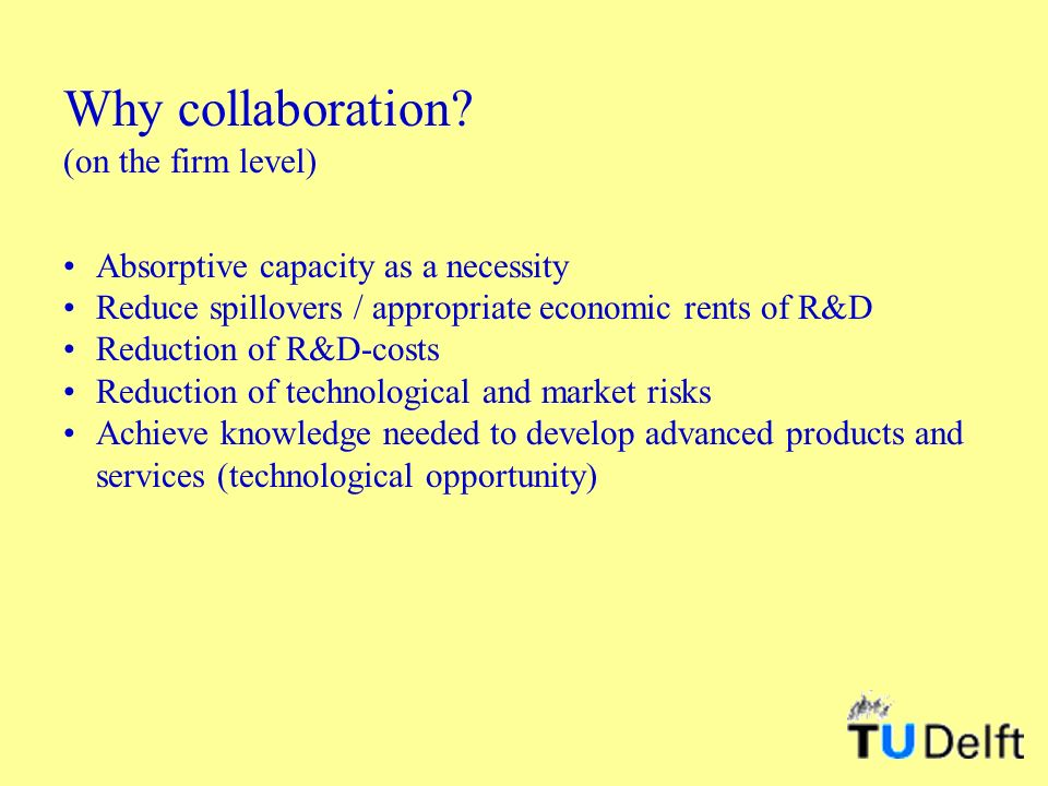 Why collaboration.