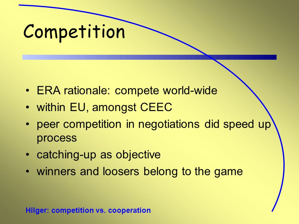 Hilger: competition vs.