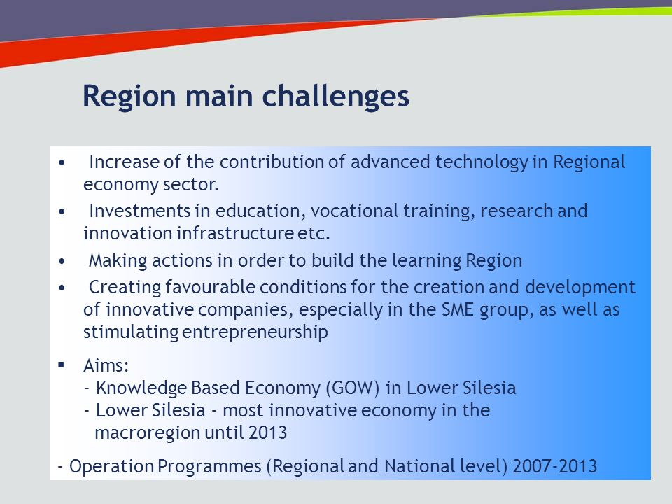 12 Increase of the contribution of advanced technology in Regional economy sector.
