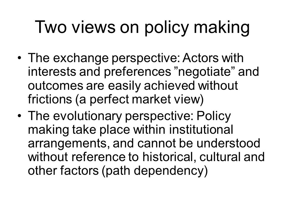 Sources of incoherence Often persistent gaps between what is perceived as challenges and institutional responses to meet them Competing rationalities in governments Persistent short-termism tend to undercut strategic needs NPM: Needs strategic support to enhance long-termism Different views and understanding of IP Different imperatives for different policy areas Fragmentation reduces strategic capabilities Competition and personal ambitions