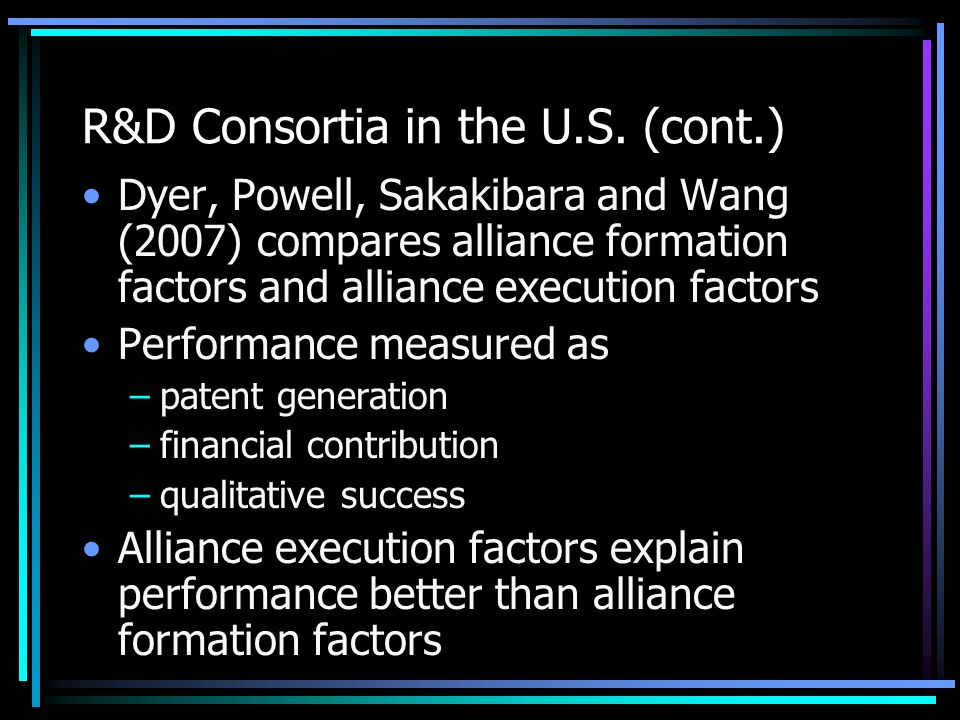 R&D Consortia in the U.S.