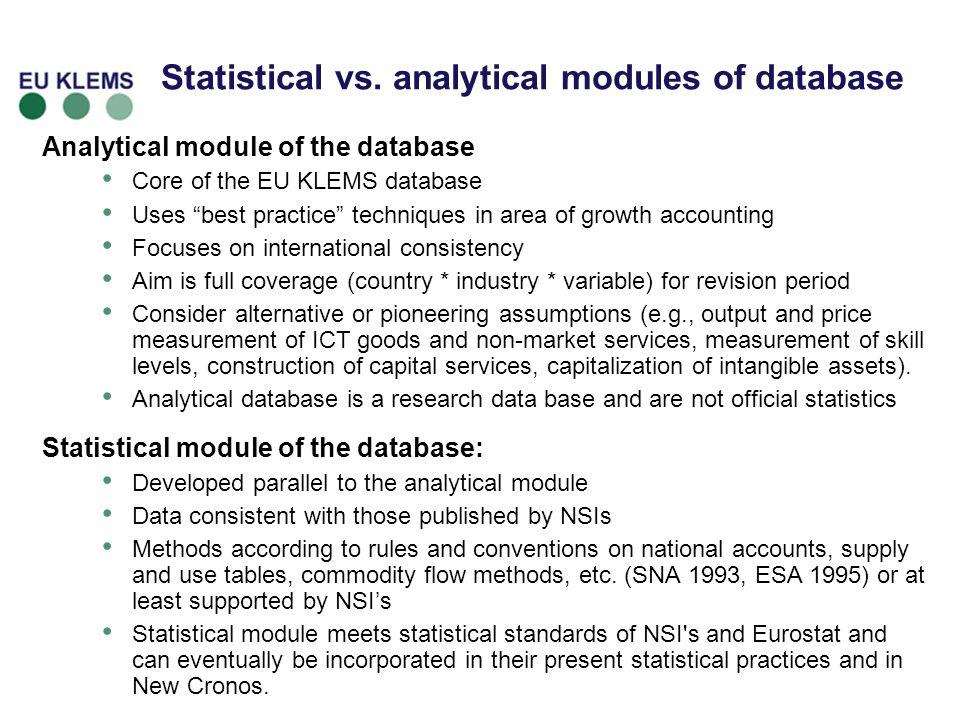 Statistical vs.