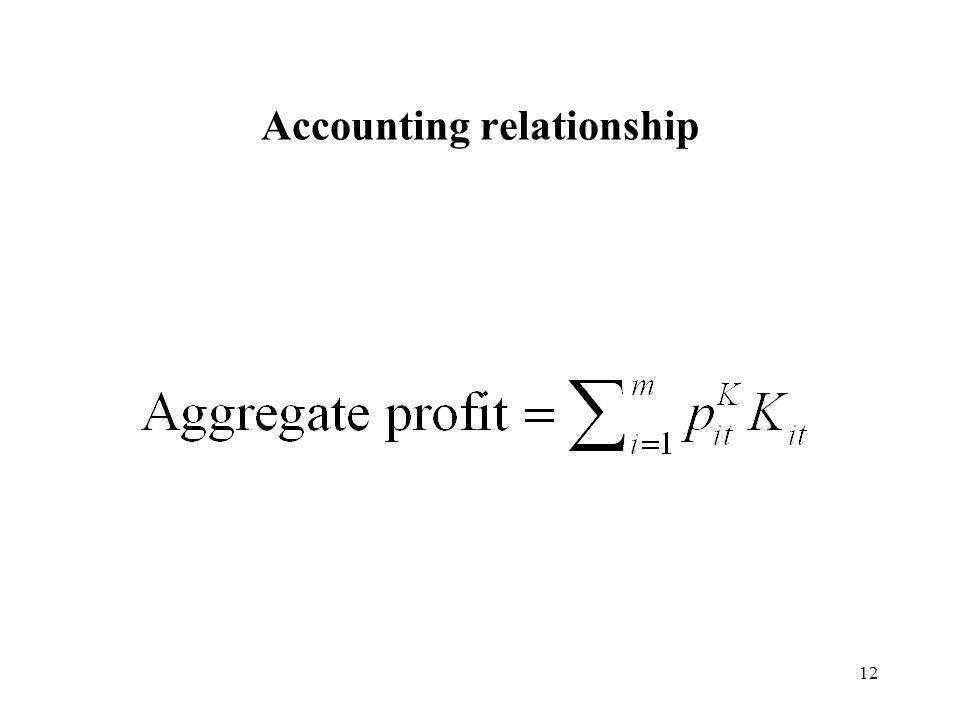 12 Accounting relationship