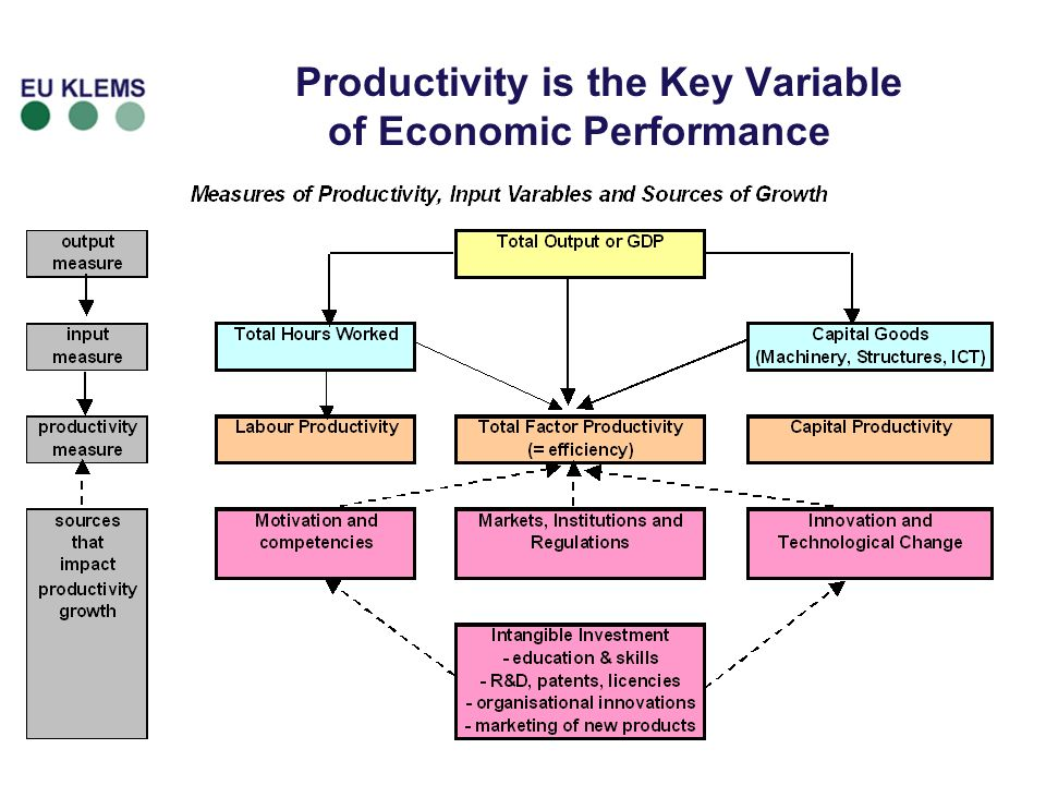 Productivity is the Key Variable of Economic Performance