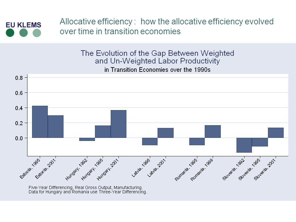 Allocative efficiency : how the allocative efficiency evolved over time in transition economies