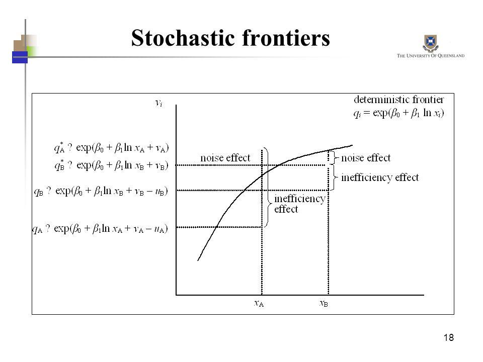 18 Stochastic frontiers
