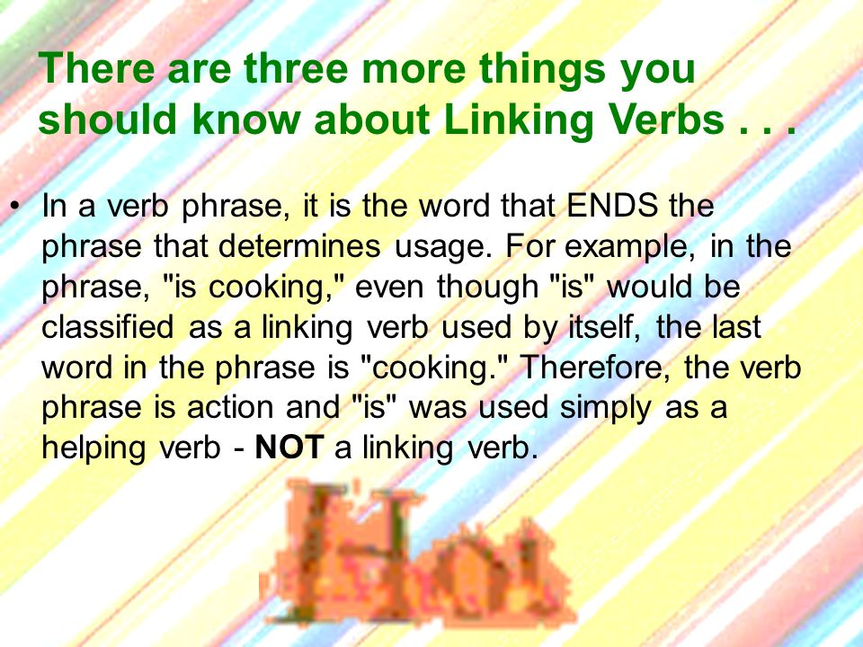 In a verb phrase, it is the word that ENDS the phrase that determines usage. For example, in the phrase,