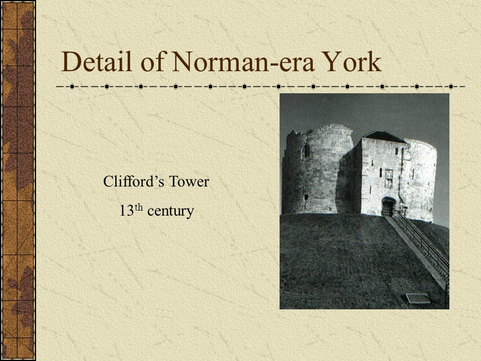 Detail of Norman-era York Cliffords Tower 13 th century