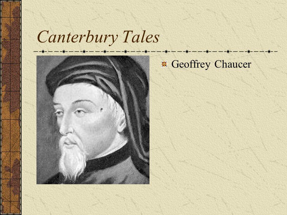 Canterbury Tales Geoffrey Chaucer