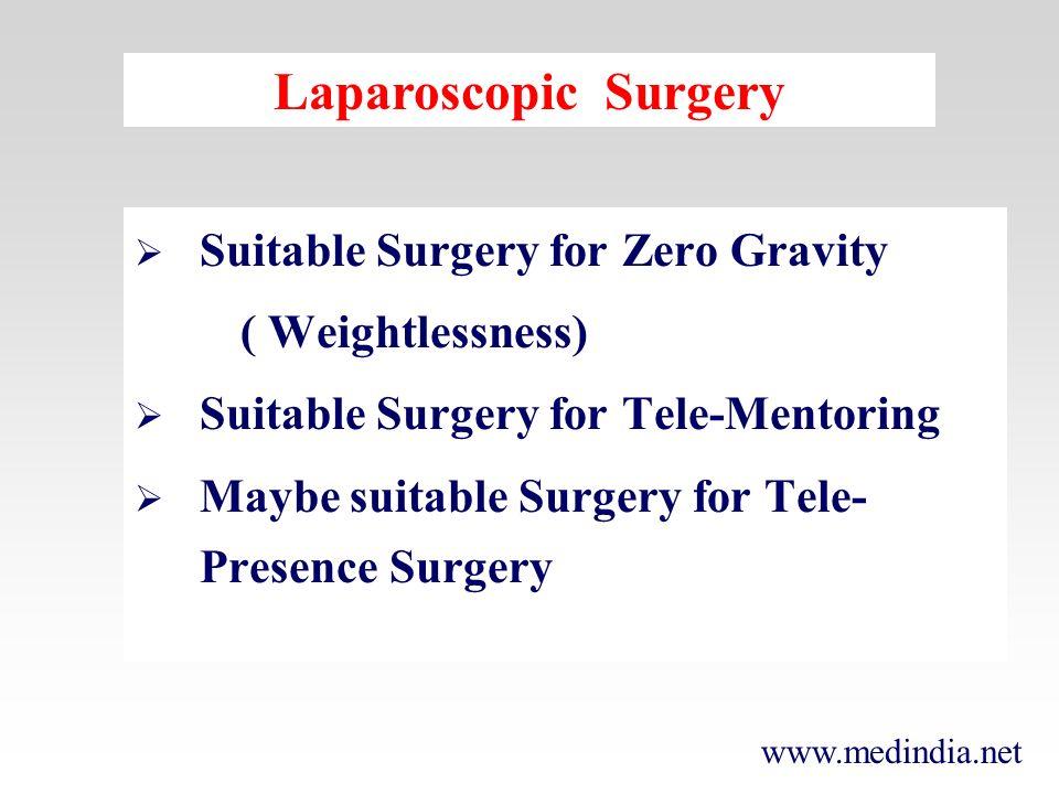 www.medindia.net Prof.Kurt Semm, Kiel, Germany First peep inside body cavity was looking into urethra - 1805 The Father of Laparoscopy Surgery