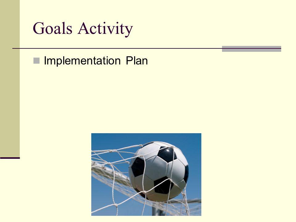 Goals Activity Implementation Plan
