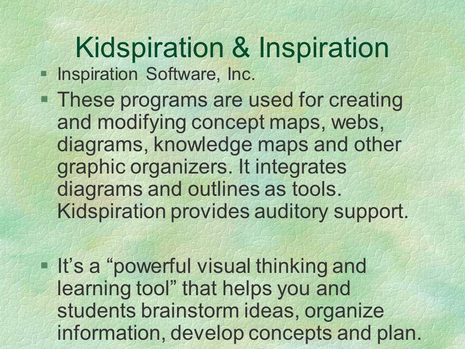 Kidspiration & Inspiration Inspiration Software, Inc.