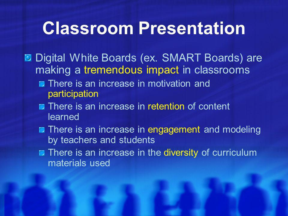 Classroom Presentation Digital White Boards (ex.