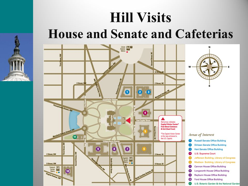 Hill Visits House and Senate and Cafeterias