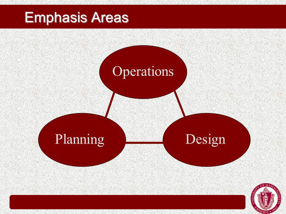 Emphasis Areas Operations PlanningDesign