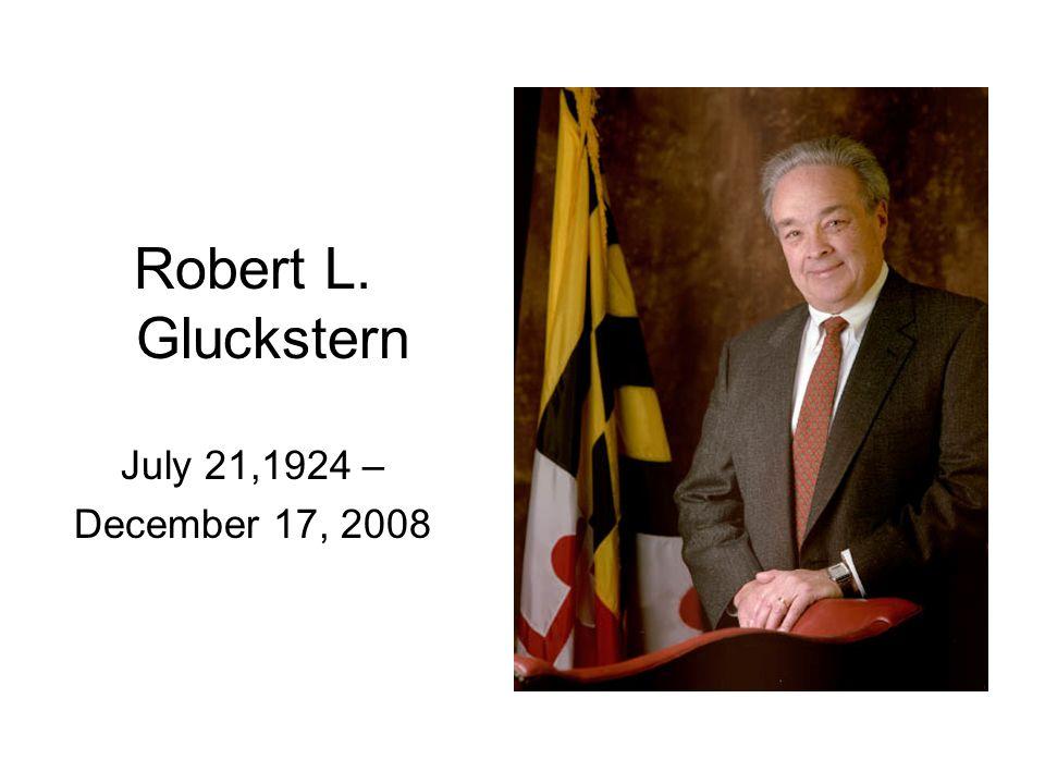 Robert L. Gluckstern July 21,1924 – December 17, 2008