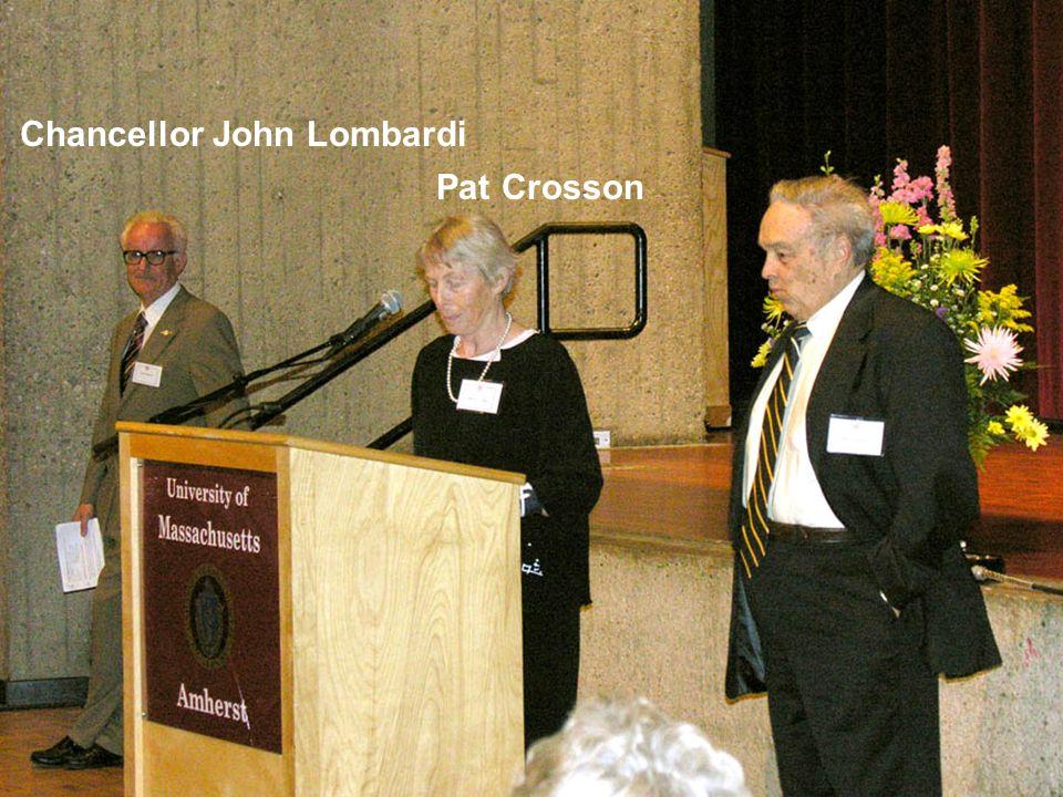 Chancellor John Lombardi Pat Crosson