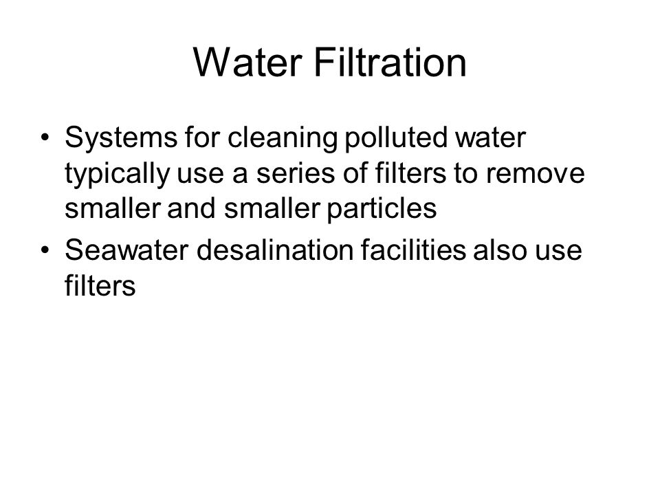 Water Filtration Categories Microfiltration Ultrafiltration Nanofiltration Reverse Osmosis