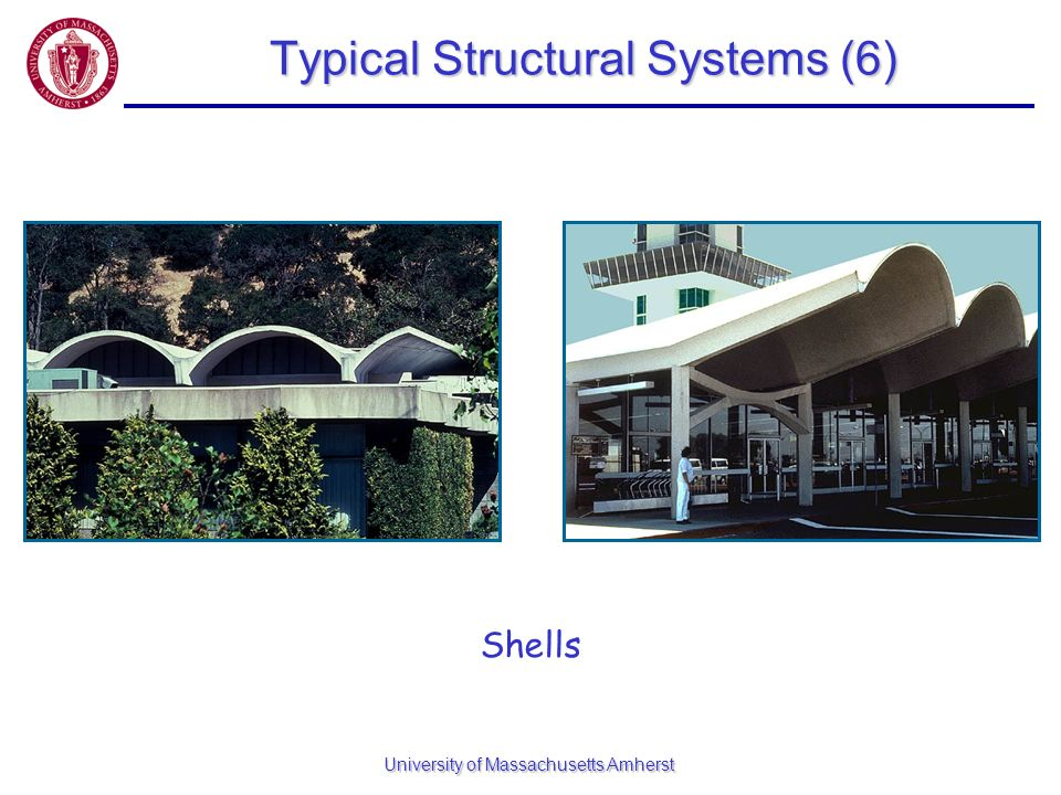 University of Massachusetts Amherst Typical Structural Systems (6) Shells