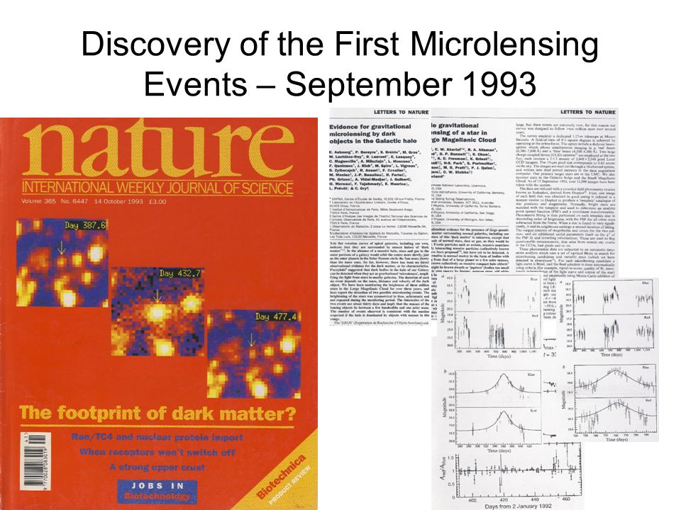 Discovery of the First Microlensing Events – September 1993
