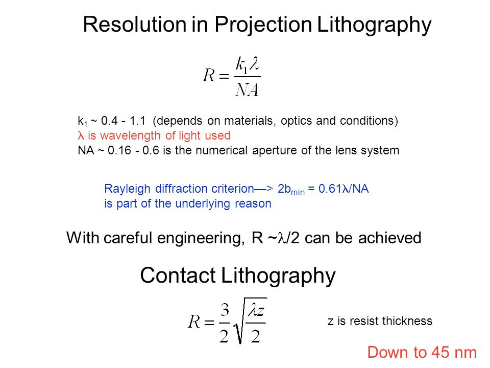 Resolution Limit of PL How low can you go? minimum linewidth There are actually many contributing factors that limit the minimum linewidth: optical di