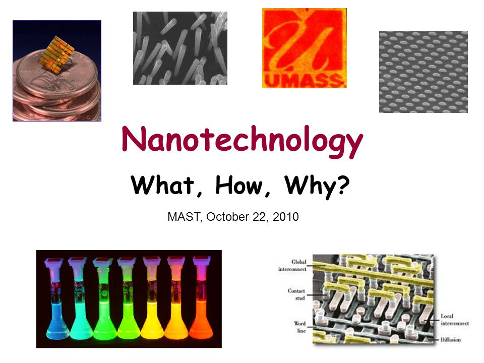 Brought to you by … NSF grant DMI-0531171 to the UMass Amherst Center for Hierarchical Manufacturing Mort Sternheim, Director, STEM Education Institute, mort@umassk12.netmort@umassk12.net Rob Snyder, STEM Ed, snyder@umassk12.net snyder@umassk12.net www.umassk12.net/nano