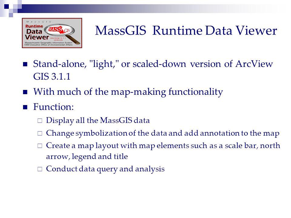 MassGIS Runtime Data Viewer Stand-alone,